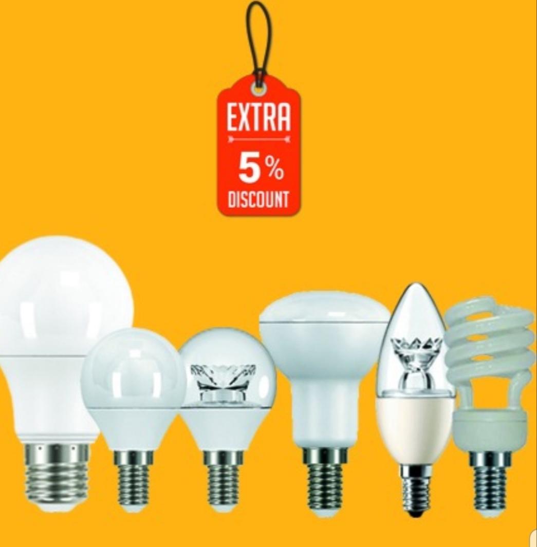 تخفیف محصولات لامپ نور